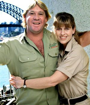 Steve irwin and Terri Irwin