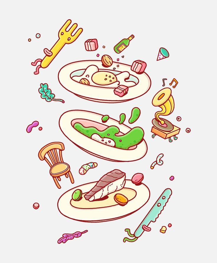 Food Illustrations on Behance
