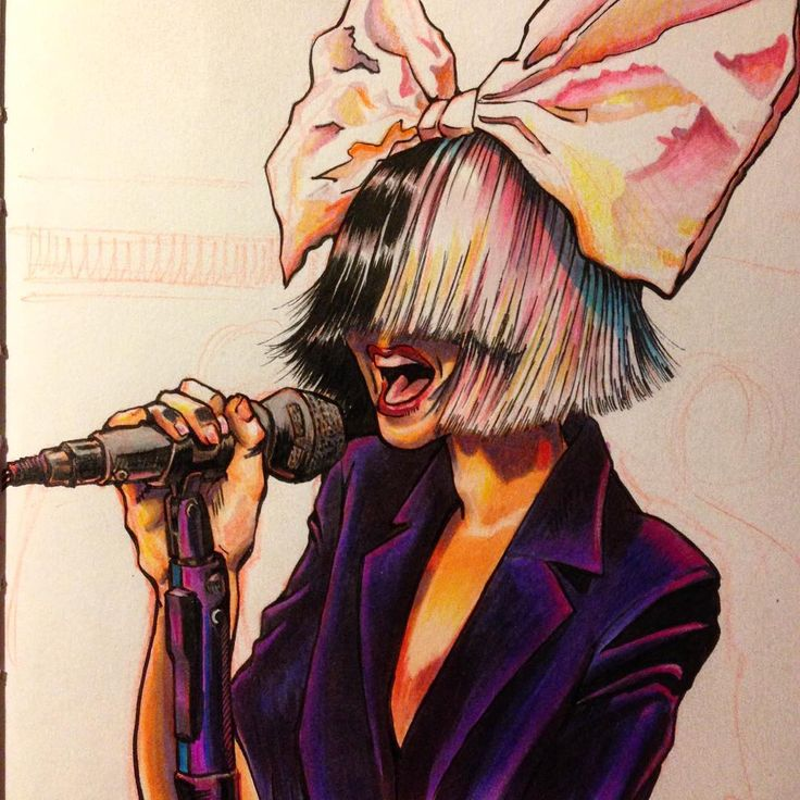 @sia_furler colored in @copicmarker & @prisma_color #coloredpencil…