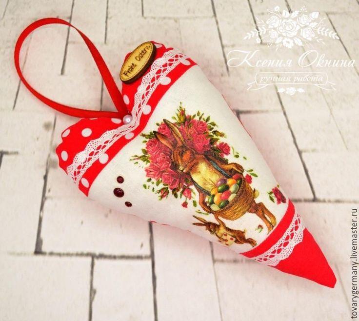 """Купить Пасхальные сердечки """"Пасха Красная"""", подарок на Пасху - подарок на Пасху, сердце тильда, сердечко"""