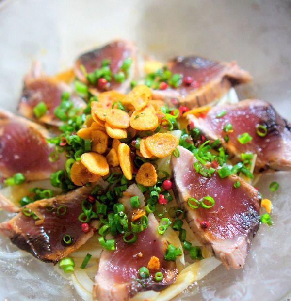 ガーリックたっぷりの鰹のカルパッチョ by manngo | レシピサイト「Nadia | ナディア」プロの料理を無料で検索