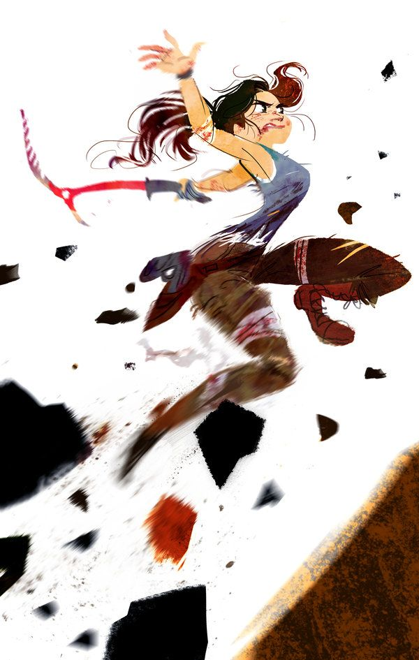 Run for cover, Here comes trouble by The-Orange-One.deviantart.com Lara Croft - Tomb Raider