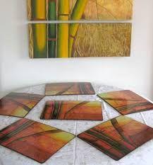 Resultado de imagen para individuales madera resinados