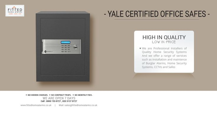 """The new Yale Certified Office Safe collection, is designed to be even stronger, more reliable, easier to use and harder to cack.Key Features:  • Electronic lock with digital keypad .Buy Now : http://www.fittedhomealarms.co.uk/fitted-products/safes/certified-safes/yale-certified-office-safe """"No hidden charges ,No contract traps ,No monthly fees."""" Call today : 0800 193 8727, 020 3137 8727 We are open 7 days. Email : sales@fittedhomealarms.co.uk Website : www.fittedhomealarms.co.uk"""