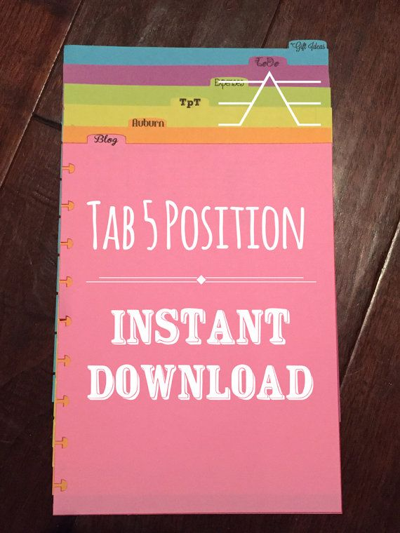 NEW Happy Planner Tabs - Tab 5 - DIY Silhouette, SVG, Studio, Cut yourself, Top Tabs, Arc Planner, svg cut files, Bundles Available