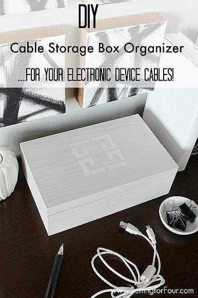 DecoArt Blog - Project - DIY Cable Storage Box Organizer