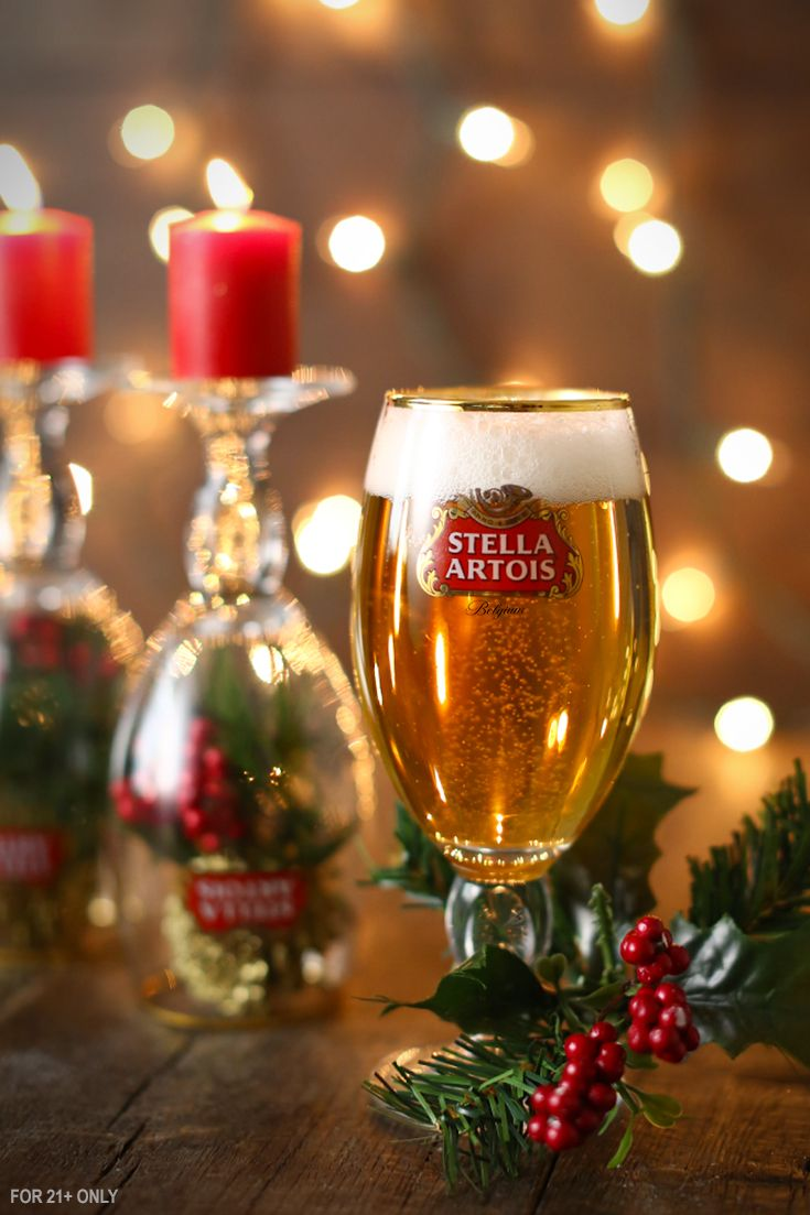 If you have an extra chalice or two sitting around, add them to your holiday decorations this year. Perfect for Christmas, Chanukah, New Years, and more. Improvise to make easy DIY candles and decorations. Then use the others for your Stella Artois.