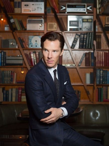 Benedict Cumberbatch poses for 'The Hollywood Reporter'.