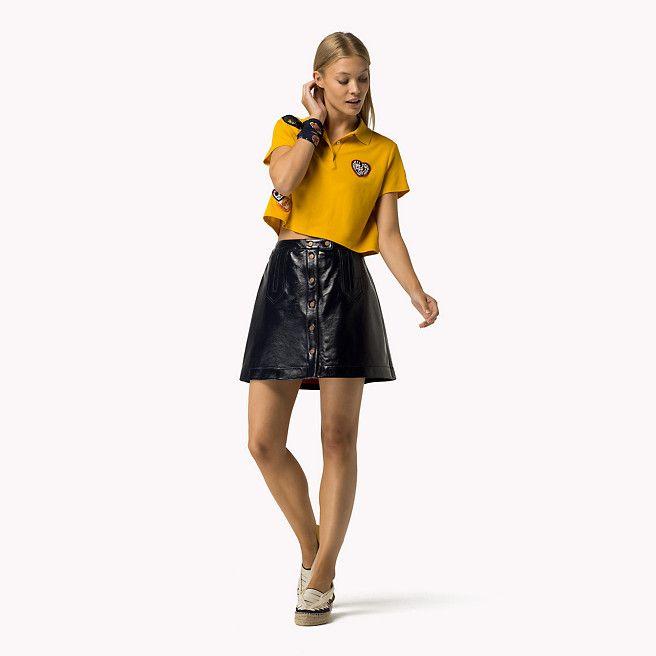 Tommy Hilfiger Mini-jupe En Cuir Gigi Hadid - peacoat (Bleu) - Tommy Hilfiger Mini - image secondaire 1