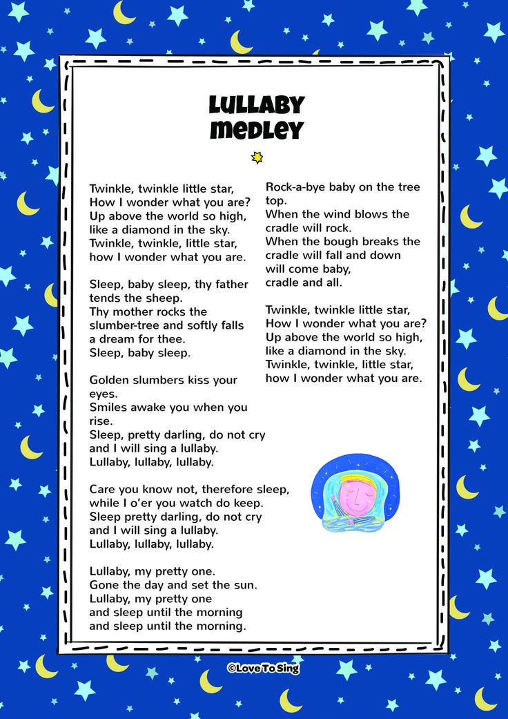 Lyric lyrics of brahms lullaby : 56 best Nursery Rhymes images on Pinterest