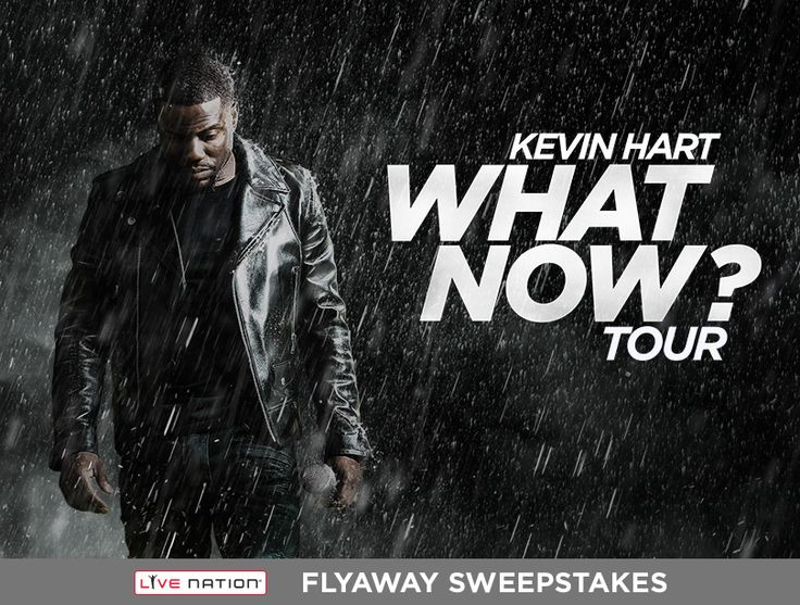 Here's your chance to flyaway andlaugh out loud atKEVIN HART on his #WhatNowTourin Philadelphia, PA! ENTER NOW!Can't wait to see him LIVE? GET TICKETS NOW