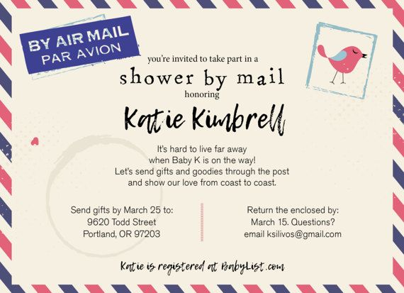 Good Long Distance Baby Shower / Shower By Mail