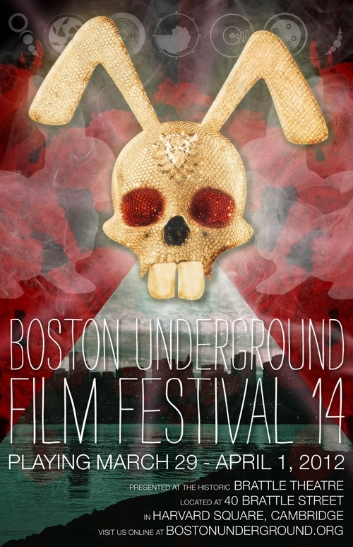 Poster for this year's Boston Underground Film Festival, designed by Bryan McKay