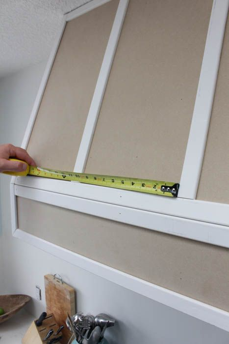 How to make your own wooden range hood fan for a Braun Fan Insert from build.com at thehappyhousie.com-36