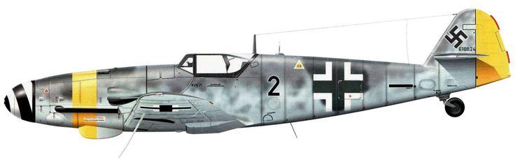 Bf.109G-10/U4 Unit: II/JG 52 Serial: 2+- (W.Nr.610824) Neubiberg, Germany, May…