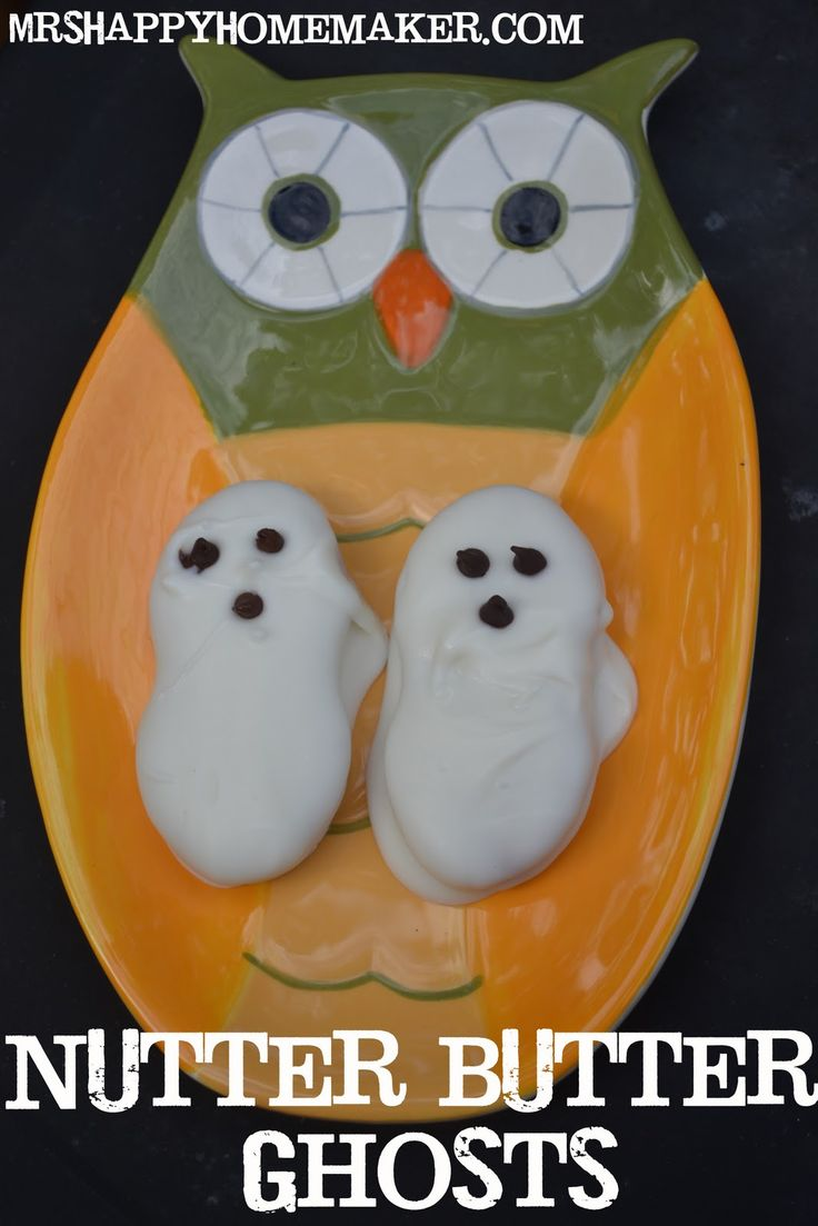 nutter butter ghosts mrs happy homemaker super cute party recipe for halloween - Halloween Holiday