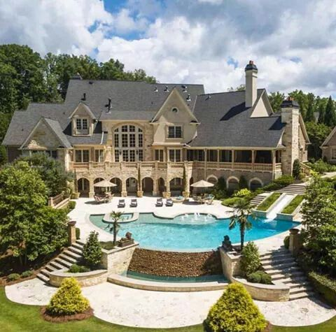 mega mansion in georgia with a massive infinity pool home decor styles - Nice Big Houses With Pools