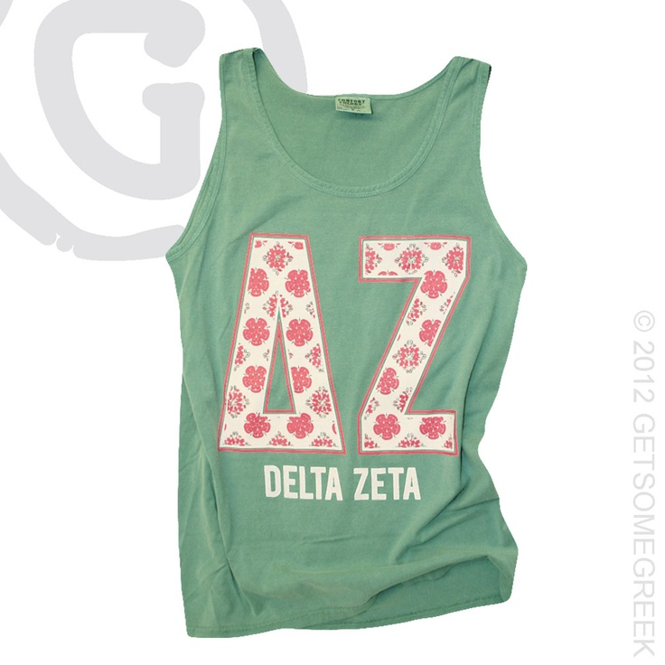 """Kelly"" Comfort Colors Delta Zeta Tank"