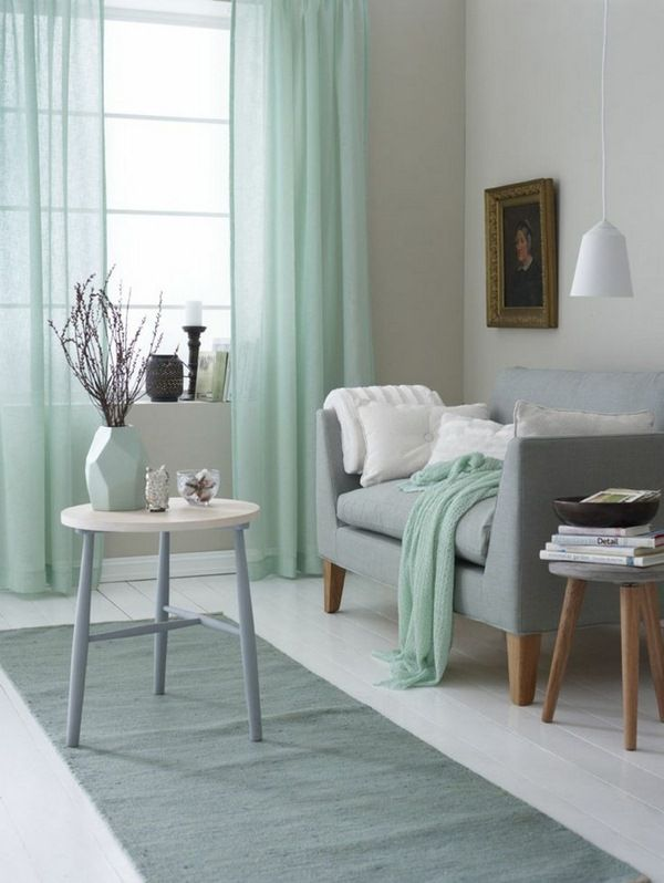 17 best ideas about mint green rooms on pinterest mint rooms mint green paints and mint green - Delicate apartment interior design with pale hues and movable walls ...