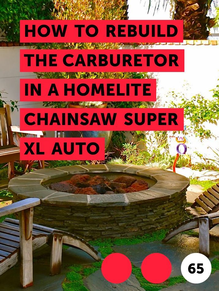 How to Rebuild the Carburetor in a Homelite Chainsaw Super XL Auto