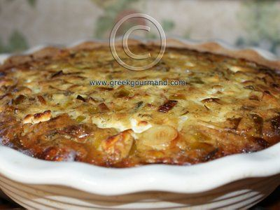 Prassopita...Greek Leek Pie