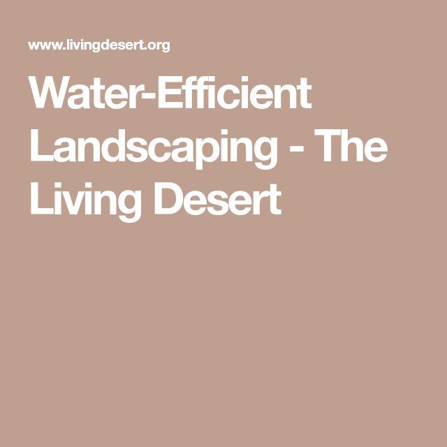 Water-Efficient Landscaping - The Living Desert