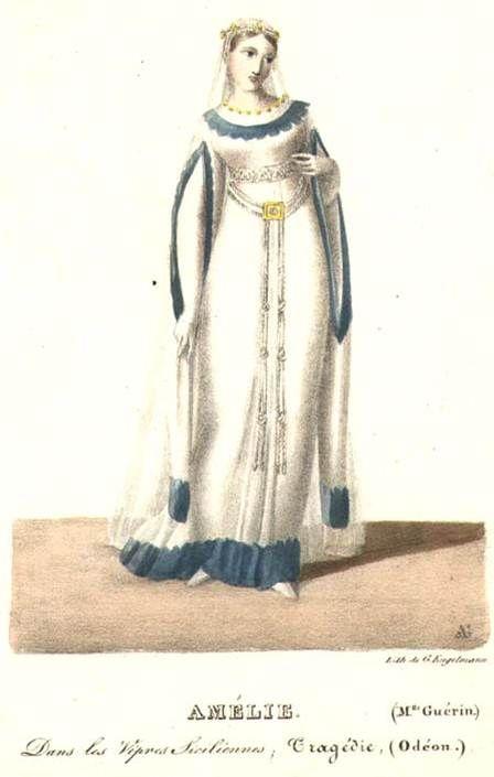 Idade média Românica - vestuario feminino