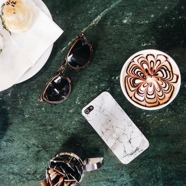 Fancy - White Marble Phone Case by Madotta