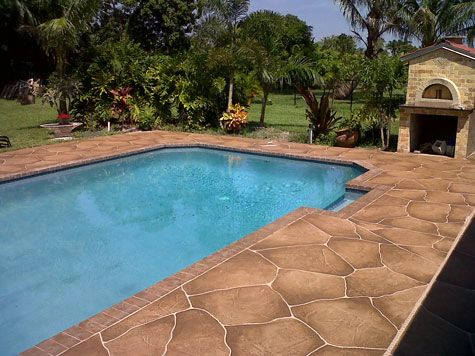 I really like this stamped concrete