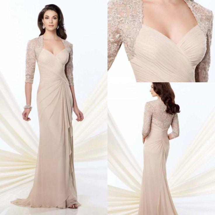 Elegant Long Sleeve Tea Length Wedding Dresses Simple: Pink Mother Of The Bride Dress Elegant Tea Length Mother