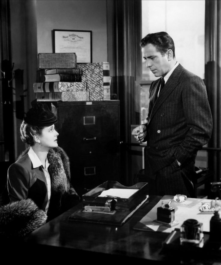 Mary Astor and Humphrey Bogart in The Maltese Falcon (1941)