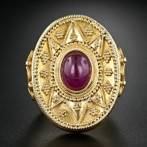 Greek Ruby Ring - 30-1-4167 - Lang Antiques
