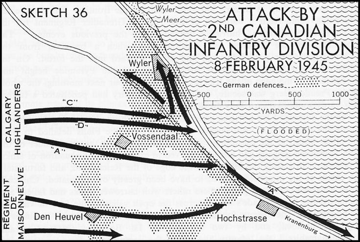 Sketch 36.--Attack by 2nd Canadian Infantry Division, 8 February 1945
