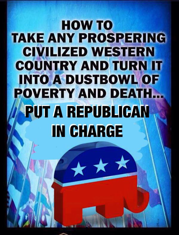 If we forget the disaster that was left of America after the republican Bush administration we may easily start to believe republicans and forget that their polices of deregulation, trickle down economics and endless war did so much damage to our country.