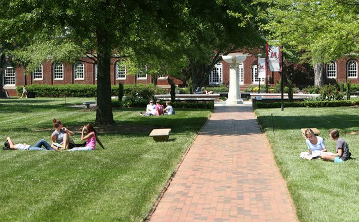 Meredith College:  a wonderful women's college in Raleigh that is right next door to North Carolina State University.