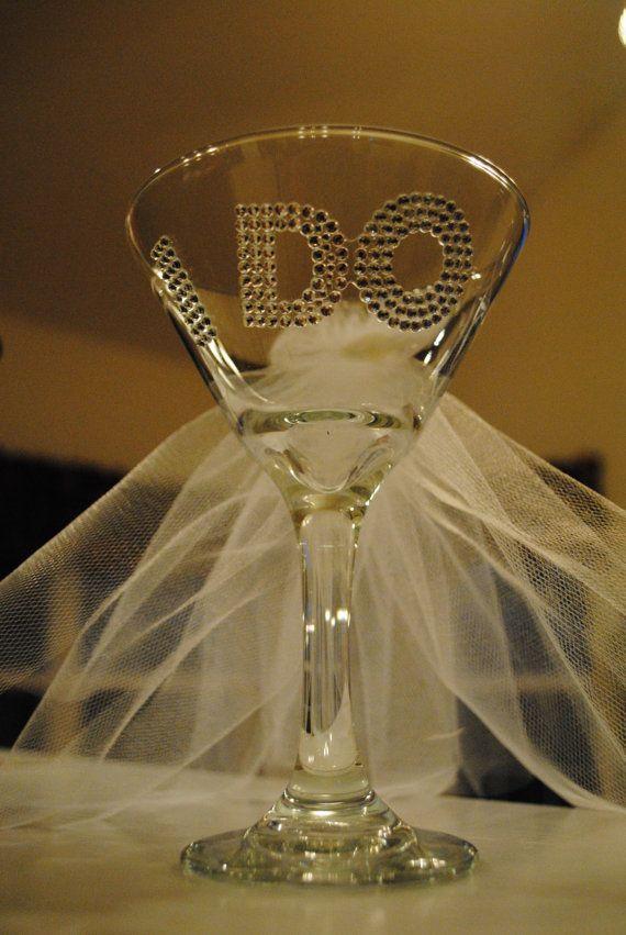 $16.00   Wedding or bridal shower giftMartini Bridal Shower, Bling Bridal Shower Ideas, Wine Glass, Bridal Shower Gifts, Kelly'S Shower, Shower Cups, Bridal Showers
