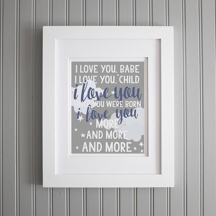 Widespread Panic Lyrics Nursery Print, Love You More and More, Lyrics Baby Room Quotes - Nursery Wall Decor, Grey, White Navy Blue Print by TheRootedPair on Etsy https://www.etsy.com/listing/248536725/widespread-panic-lyrics-nursery-print