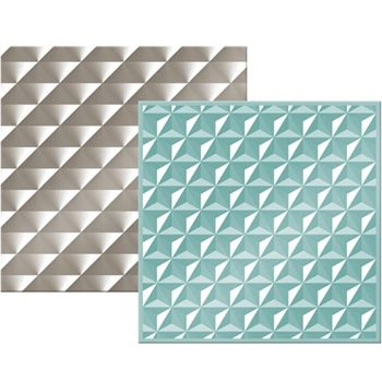 We R Memory Keepers GEOMETRIC Next Level Embossing Folders 662688