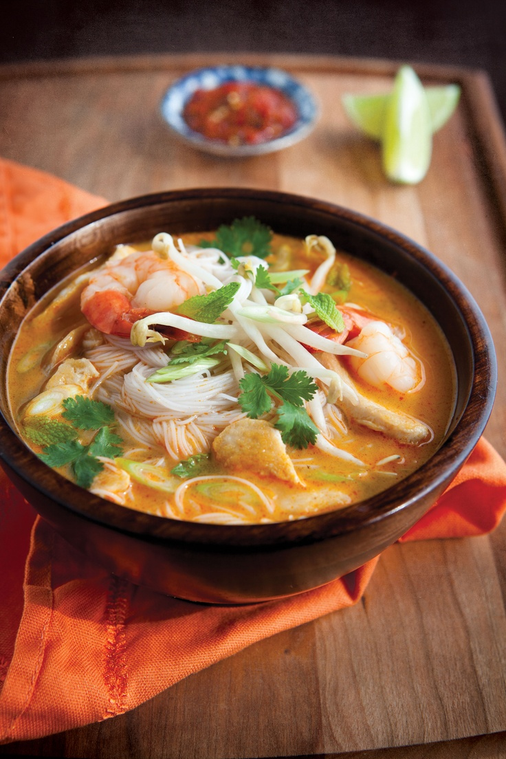 Laksa soup from Malaysia is wonderfully spicy and creamy, and is a well-kept secret. alive.com