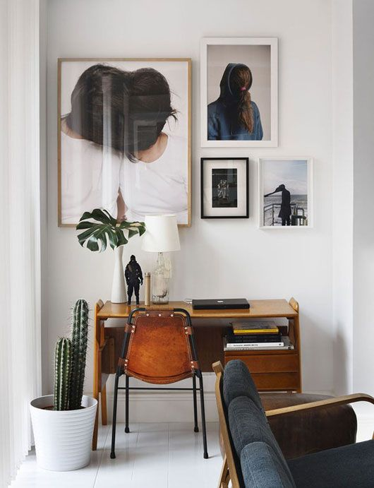 office, desk, large photos
