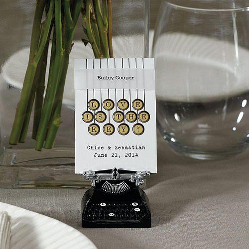 """Vintage Typewriter Card Holder (Set of 6)"""