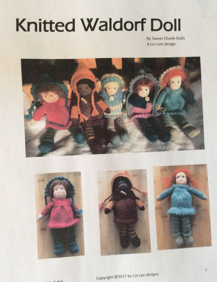 Knitted Waldorf Doll Pattern by SweetCheekDolls on Etsy