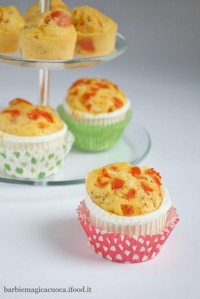 Muffin salati con pomodorini e feta - picnic - ricette buffet