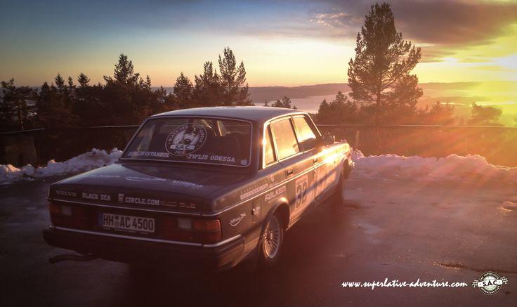 Volvo 240, Youngtimer, Sunset, Adventure, Black Sea, Outdoor Adventure