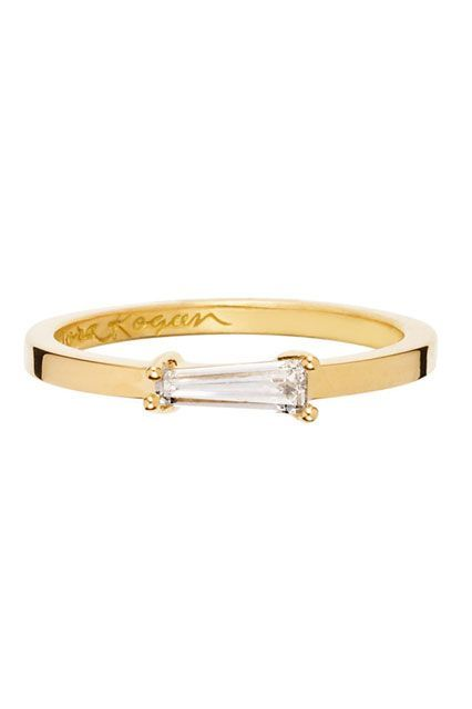 """20 Minimalist Engagement Rings That Scream """"I Do"""" #refinery29  http://www.refinery29.com/minimalist-engagement-rings#slide-4  A no-fuss ring that makes the diamond the star of the show.Nora Kogan Paloma Ring, $2,400, available at Nora Kogan...."""