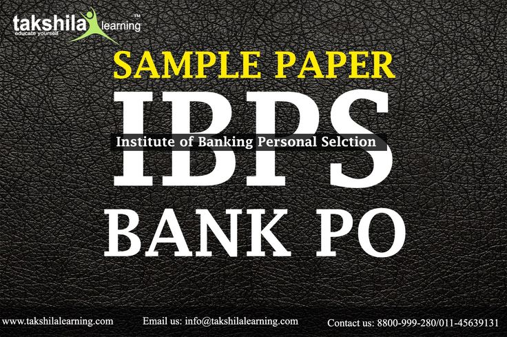 Sample papers for Bank PO Exam : Institute of banking Personnel Selection (IBPS) Department issued a Notification of IBPS PO 2017  exam announced in October month. IBPS Probationary Officer (PO) Online Application Form process will be begin from July 2017.for more Visit here : https://goo.gl/7ftztw