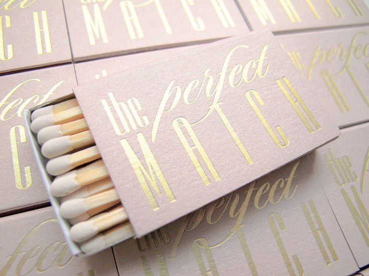 Need your matchbox wedding favors in a hurry? Our The Perfect Match matchbox wedding favors are beautifully foil stamped and are ready to ship! Add them to sparklers for a shimmery bride and groom send off! Colors used in photo: Stardust Rose Gold matchbox and Brushed Gold foil ink.    Click here to view more details...