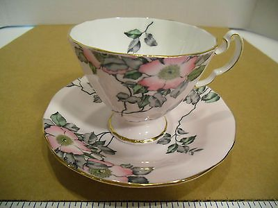 English Adderley Fine Bone China Pink Tea Cup & Saucer Set H717 - EUC
