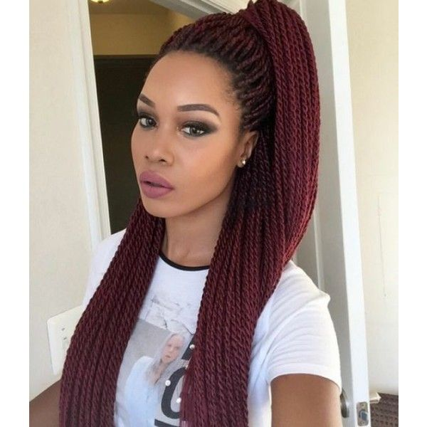 Latest 70 Senegalese Twist Braids Hairstyles 2016 Style in Hair ❤ liked on Polyvore featuring accessories, hair accessories and long hair accessories