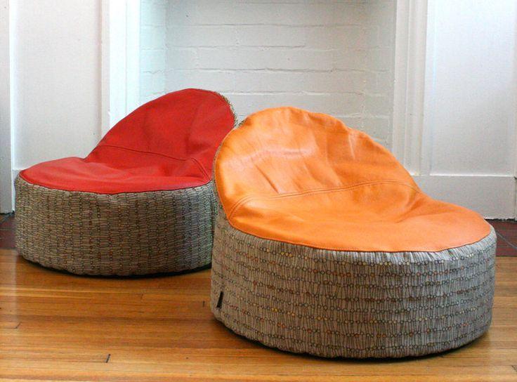 Bean Bag Chair Pattern White Walls